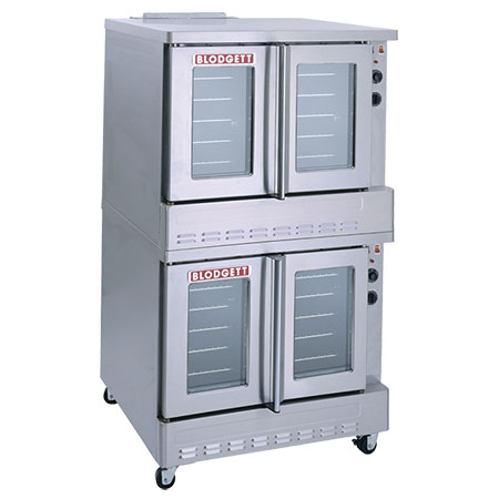 "Blodgett Full Size Double Deck Dual Glass Doors Liquid Propane Convection Oven with Legs and Casters 38-1/4""W"