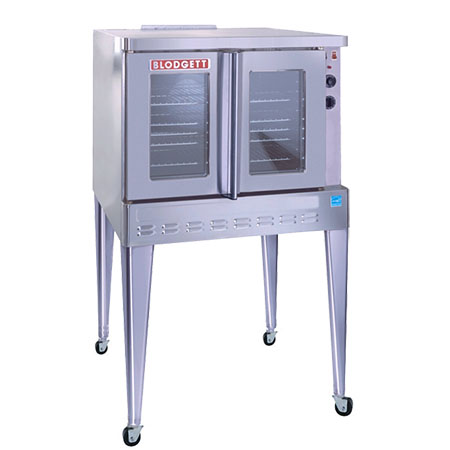 Blodgett Full Size Single Deck Dual Glass Doors Electric Convection Oven with Legs and Casters