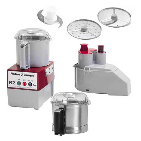 Robot Coupe R2B 3-Quart Continuous Feed Food Processor with Free Stainless Steeal Batch Bowl