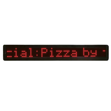 "Mystiglo Scrolling LED Message Sign 26"" x 3-9/10"""