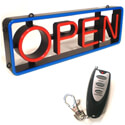 "Mystiglo Traditional LED Swivel Open Sign 27-3/4"" x 9-1/4"""