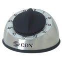 CDN 60-Minute Stainless Steel Mechanical Timer with 3-Second Alarm