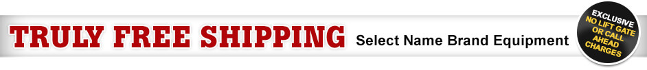Free Shipping on Select Brand Name Equipment