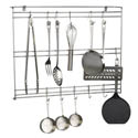 "Focus Stainless Steel Wire Wall Mount Utensil Rack 18""W"