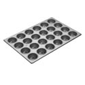 "Focus 2-3/4"" Diameter 24 Cup Aluminized Steel Muffin Pan"