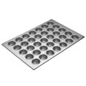 "Focus 2-3/16"" Diameter 35 Cup Aluminized Steel Muffin Pan"