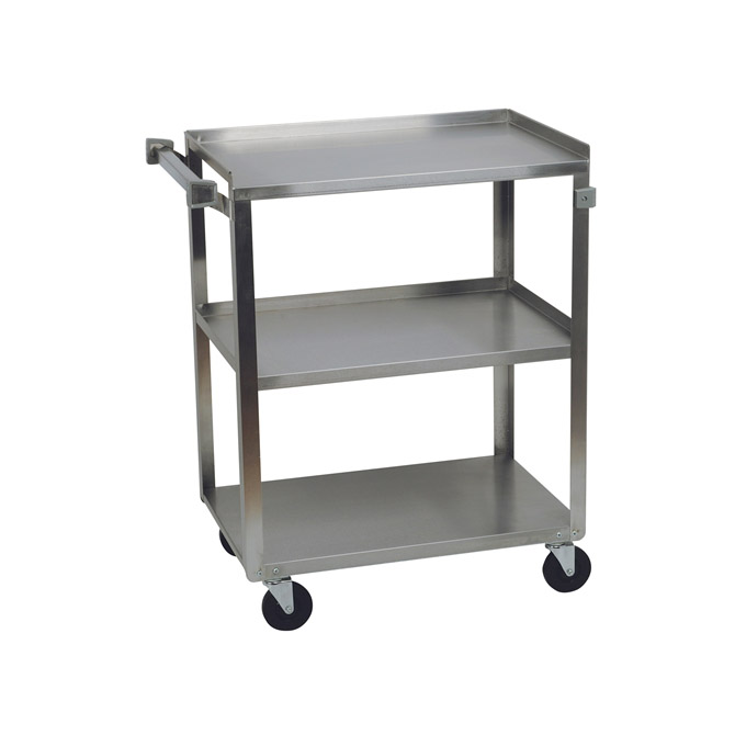 Metal Utility Cart: Stainless Steel Utility Cart 15.5 Inch X 24 Inch X 34 Inch