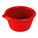 Gessner 3 oz. Red Spouted Melamine Ramekin