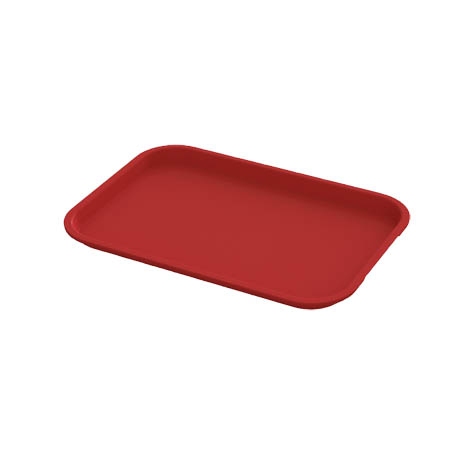 "Impact Plastic Red Fast Food Tray 10"" x 14"""