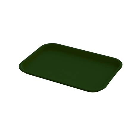 "Impact Plastic Forest Green Fast Food Tray 10"" x 14"""