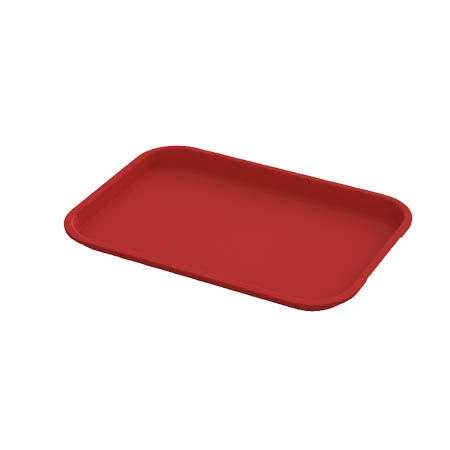 "Impact Plastic Red Fast Food Tray 12"" x 16"""