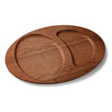 Tomlinson Wood Holder for Cast Iron Split-Oval Platter