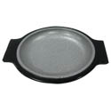 "Tomlinson Aluminum Holder with Frosty Finish and 7-1/2"" Round Deep Dish Dinner Platter"