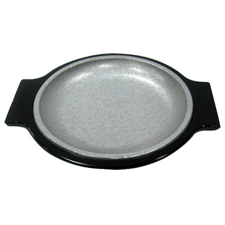 "Tomlinson Aluminum Holder with Burnished Finish and 7-1/2"" Round Deep Dish Dinner Platter"