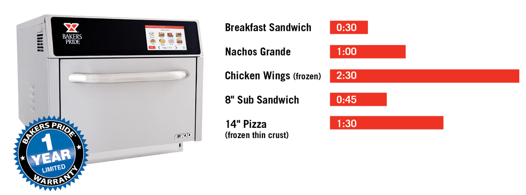 Bakers Pride Speed Oven Cooking Times