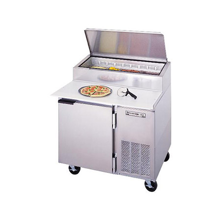 "Beverage-Air 16.7 cu. ft. 1-Door Pizza Prep Table 46""W"