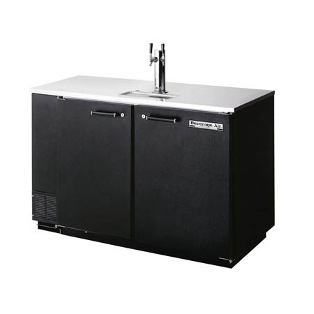 "Beverage-Air 2-Keg Direct Draw Black Beer Tap 50""W"