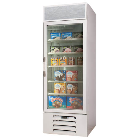 "Beverage-Air 23 cu. ft. Glass 1-Door Ice Cream Freezer 27-1/4""W"