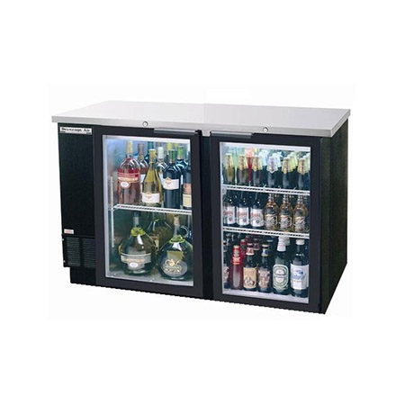 "Beverage-Air 2-Keg Stainless Steel Top Back Bar Cooler 59""W"