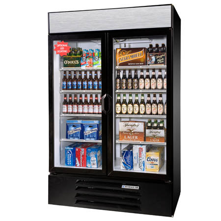 "Beverage-Air 49 cu. ft. 2 Swinging Door Refrigerator Merchandiser 52""W"