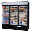 "Beverage-Air 72 cu. ft. 3 Swinging Door Refrigerator Merchandiser 75""W"