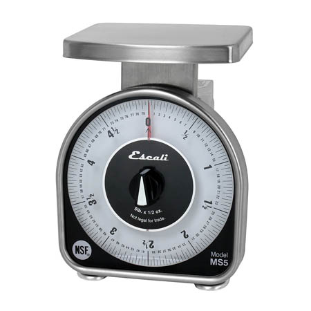 Escali MS-Series Mechanical Dial 5 lb. x 0.5 oz. Scale