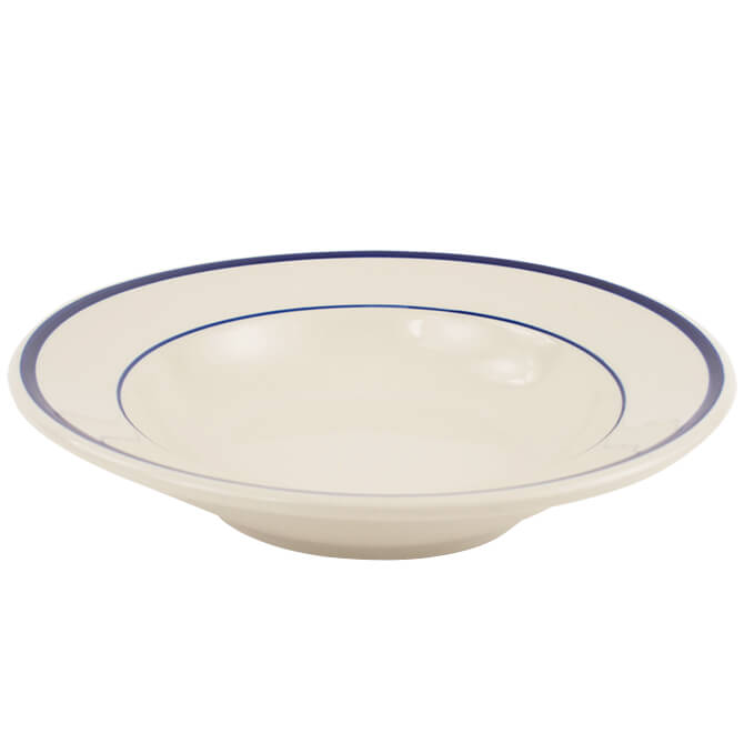 ITI 11-1/2\  American White Salad or Pasta Bowl with Blue Striped Rim  sc 1 st  Restaurant Equippers & ITI 11-1/2 American White Salad or Pasta Bowl with Blue Striped Rim