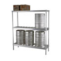 6-Keg Heavy-Duty Stacker Rack 60\x22L x 18\x22D x 76\x22H