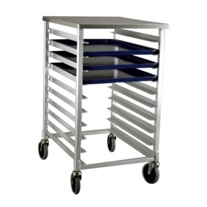Half-Size Mobile Aluminum Sheet Pan Rack with Stainless Steel ...