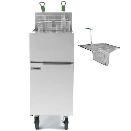 "Frymaster 30-40 lb. Open Pot Gas Fryer with Casters and Sediment Tray 15""W"