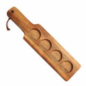 Anchor Hocking Wooden Beer Tasting Paddle 14-1/2\x22W x 5/8\x22H