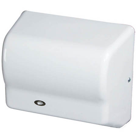 American Dryer Automatic Electric Hand Dryer with White Poly Cover