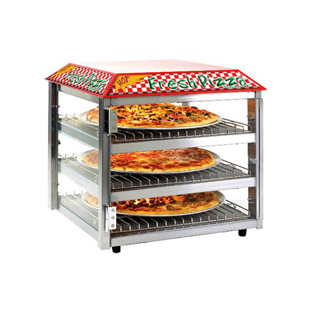 "Tomlinson 3-Tier Heated Pizza/Snack Merchandiser 19""W"