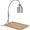 "Nemco Carving Station with Bulb Warmer and Wood Cutting Board 15"" x 20"""