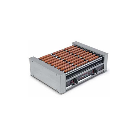 "Nemco 27 Hot Dog Roll-A-Grill with Chrome Rollers 22-1/4""W"
