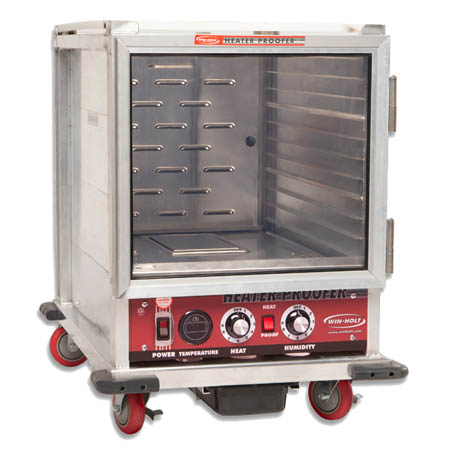 "Win Holt 10-Pan Non-Insulated Heater Proofer Cabinet 22-13/16""W"