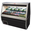 "Howard McCray 30 cu. ft. Double Duty Black Refrigerated Deli Meat and Cheese Case 50""W"
