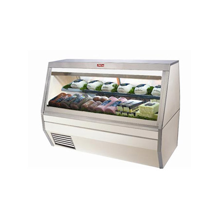 "Howard McCray 45 cu. ft. Double Duty Refrigerated Deli Meat and Cheese Case 71""W"