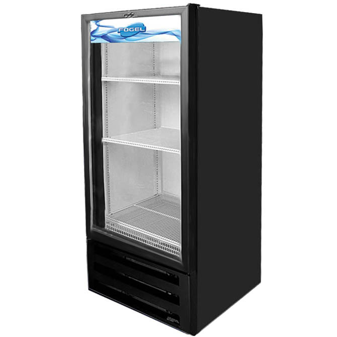 Fogel 10 cu ft 1 swinging glass door refrigerator for 1 door chiller