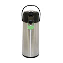 Service Ideas 2.2 Liter Glass Lined Stainless Steel Airpot with Lever