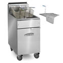 Imperial 40 lb. Open Pot Liquid Propane Fryer with Casters and Sediment Tray 15-1/2\x22W
