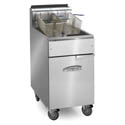 Imperial 50 lb. Open Pot Natural Gas Fryer with Casters 15-1/2\x22W