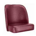 Crimson Bar Stool Seat for Bucket Style Bar Stool