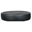 "Black 14-1/2"" Round Bar Stool Seat"