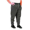 Black & White Striped Baggy Chef Pants