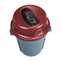 San Jamar KatchAll Flatware Retriever Lid for 44-Gallon Round Trash Containers