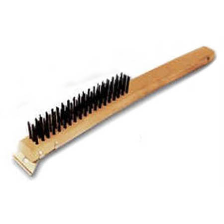 "Thunder Group 14"" Wire Brush with Scraper"