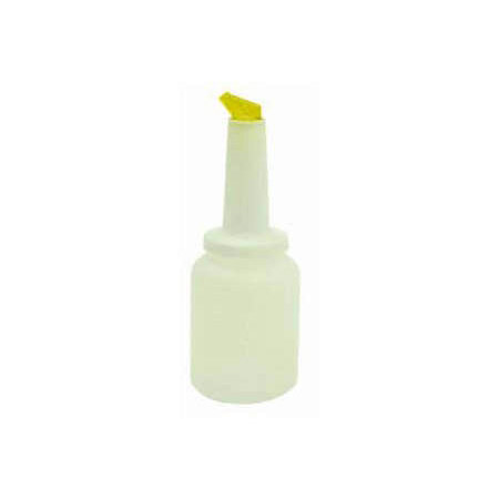 2-Quart Pour Bottle with Yellow Spout and Lid