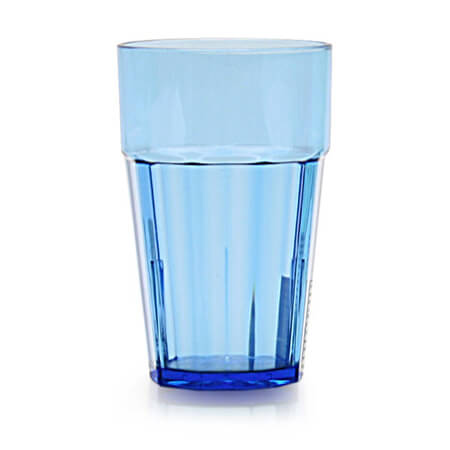 Thunder Group Diamond 10 oz. Blue Poly Tumbler Glass