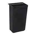 Black Trash Bin for 3-Shelf Bus Cart (SKU JC3316)